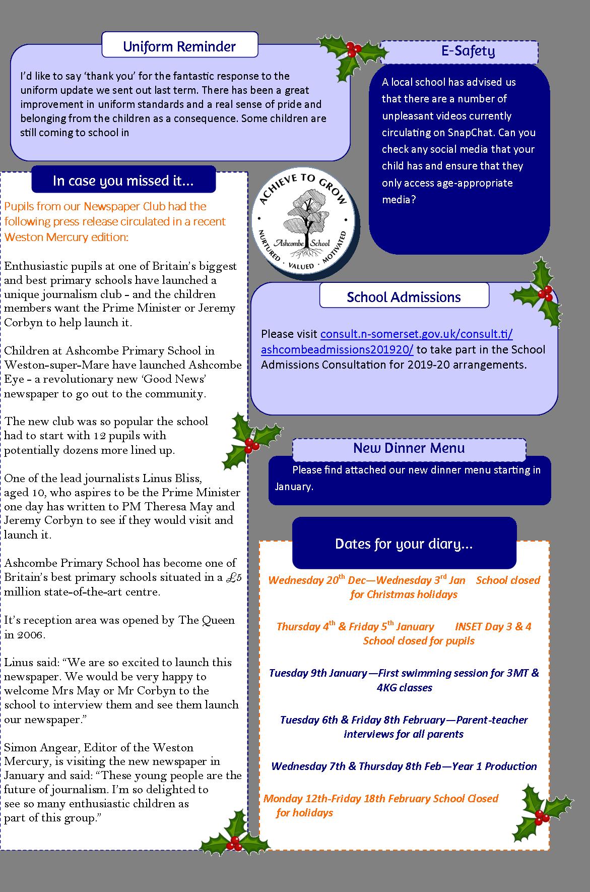 Newsletters ashcombe primary school. Newsletter clipart newpaper
