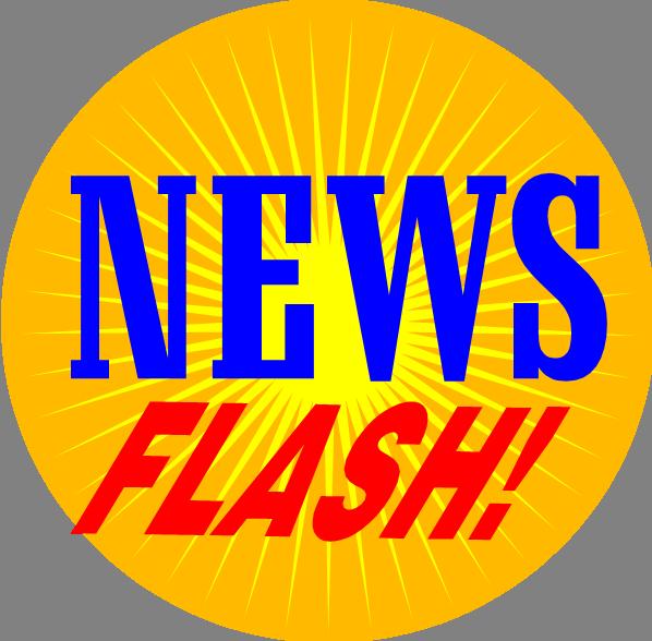 newsletter clipart news flash