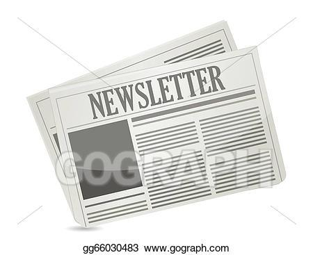 Vector art paper illustration. Newsletter clipart newspaper