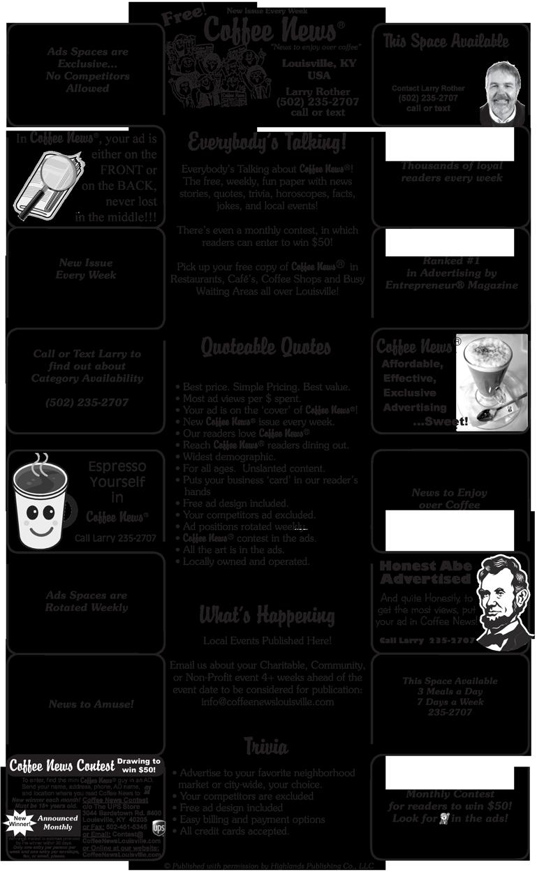 Newsletter clipart newspaper advertising. Coffee news louisville ky