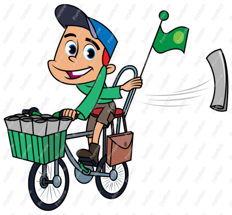 Newspaper clipart newspaper delivery. Cliparts free download best
