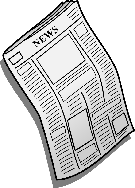 Newsletter clipart newspaper front page. Fort payne middle school