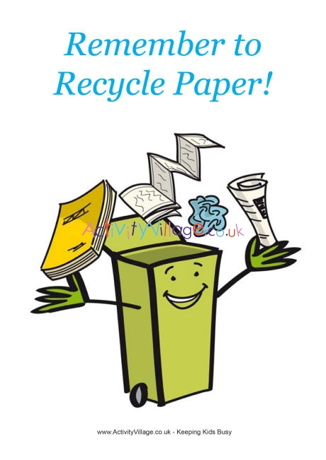 Newsletter clipart paper recycling. Poster remember to recycle