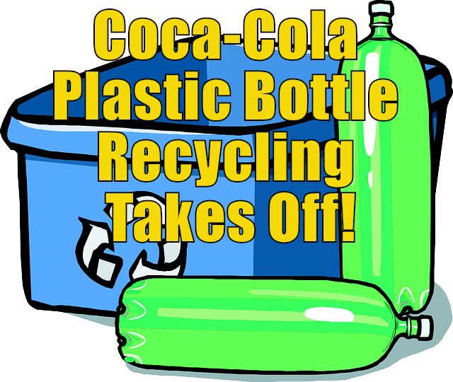 Coca cola plastic bottle. Newsletter clipart recyclable material