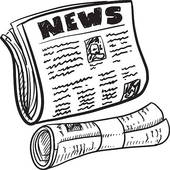 Newspaper clipart. Headline clip art royalty
