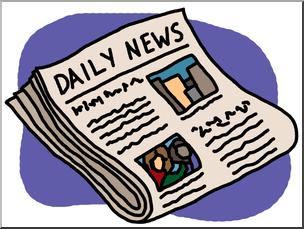 Clip art newspaper color. News clipart news paper