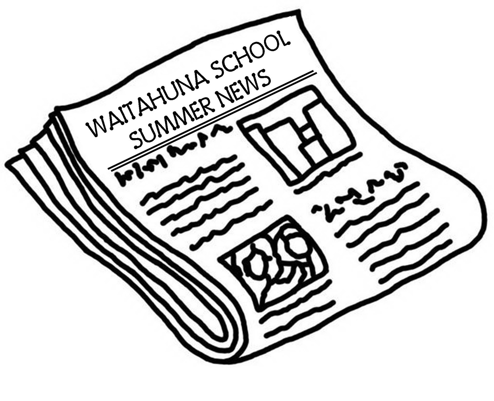 Newspaper clipart edition. Waitahuna school first of