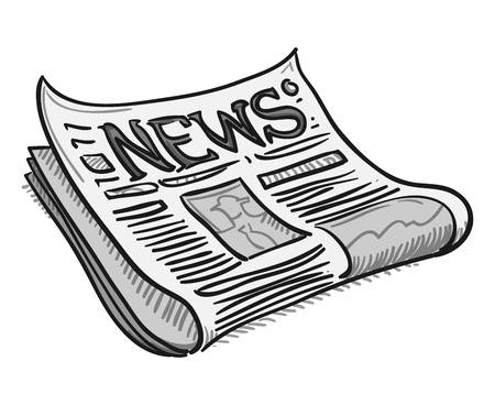 School one student news. Newspaper clipart edition