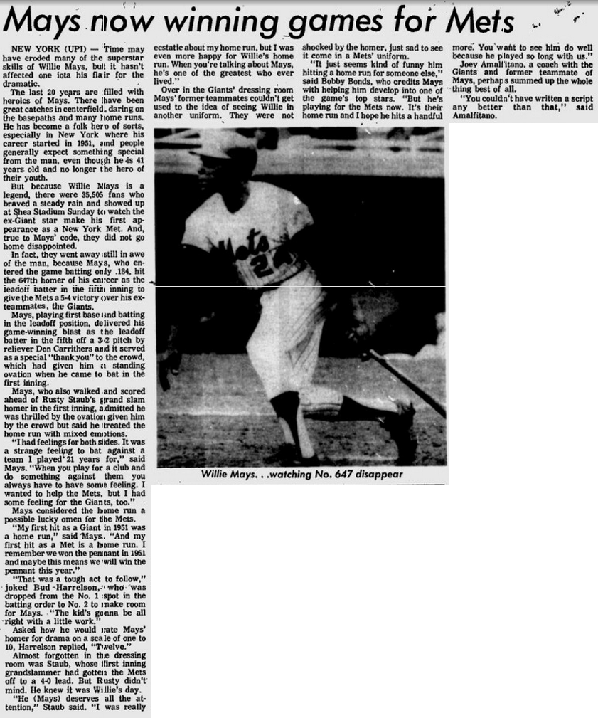 Newspaper clipart newspaper clipping. This date in mets