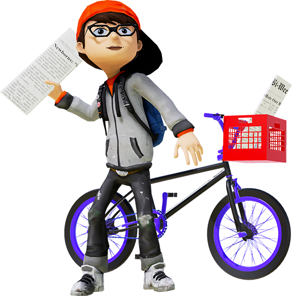 Special vr a game. Newspaper clipart newspaper delivery