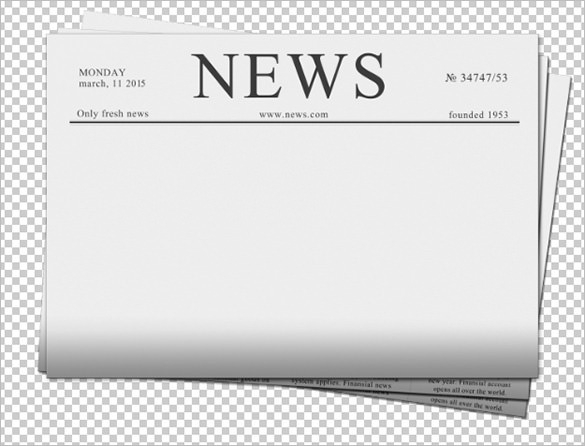 Blank template ukran agdiffusion. Newspaper clipart newspaper front page
