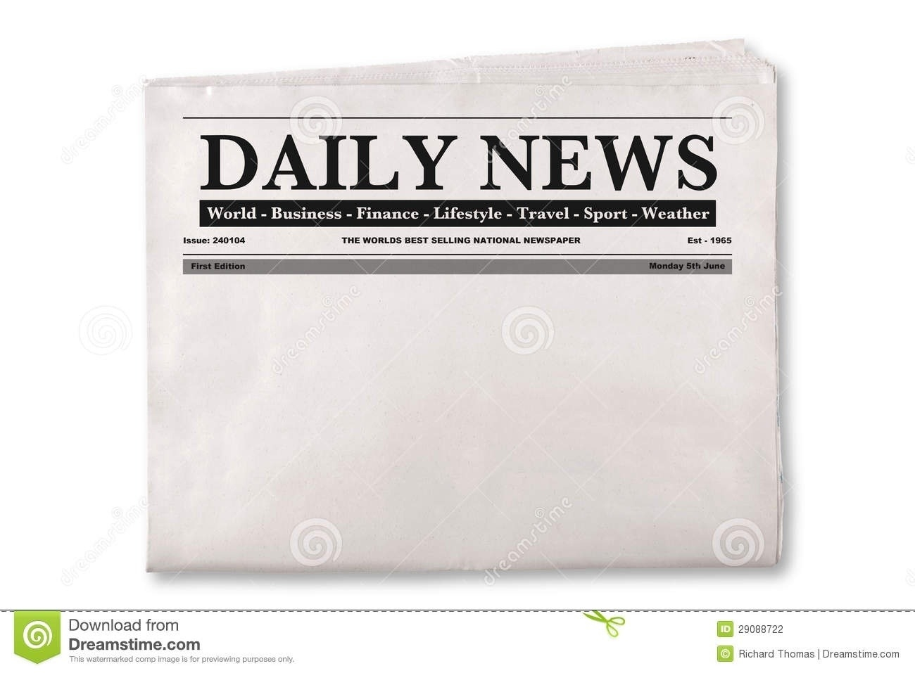 Newspaper clipart newspaper front page. World of label for