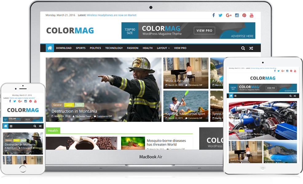 Colormag free style responsive. Newspaper clipart newspaper magazine