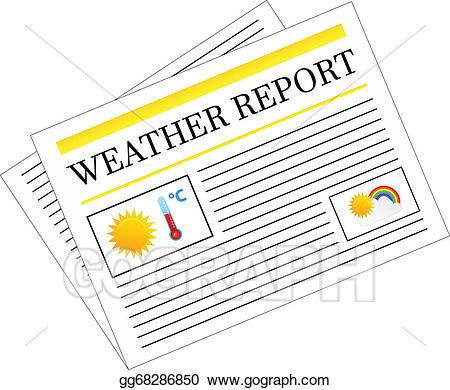 Newspaper clipart newspaper report. Vector stock weather