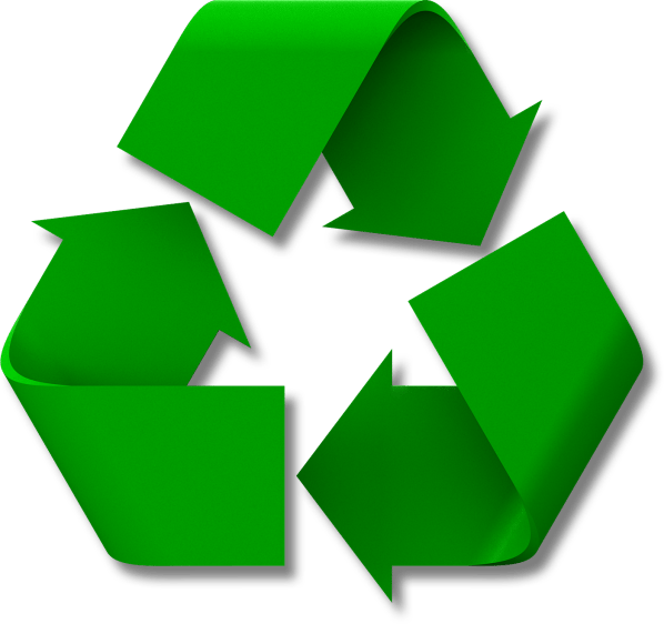 Recycling logo . Newspaper clipart recycled paper