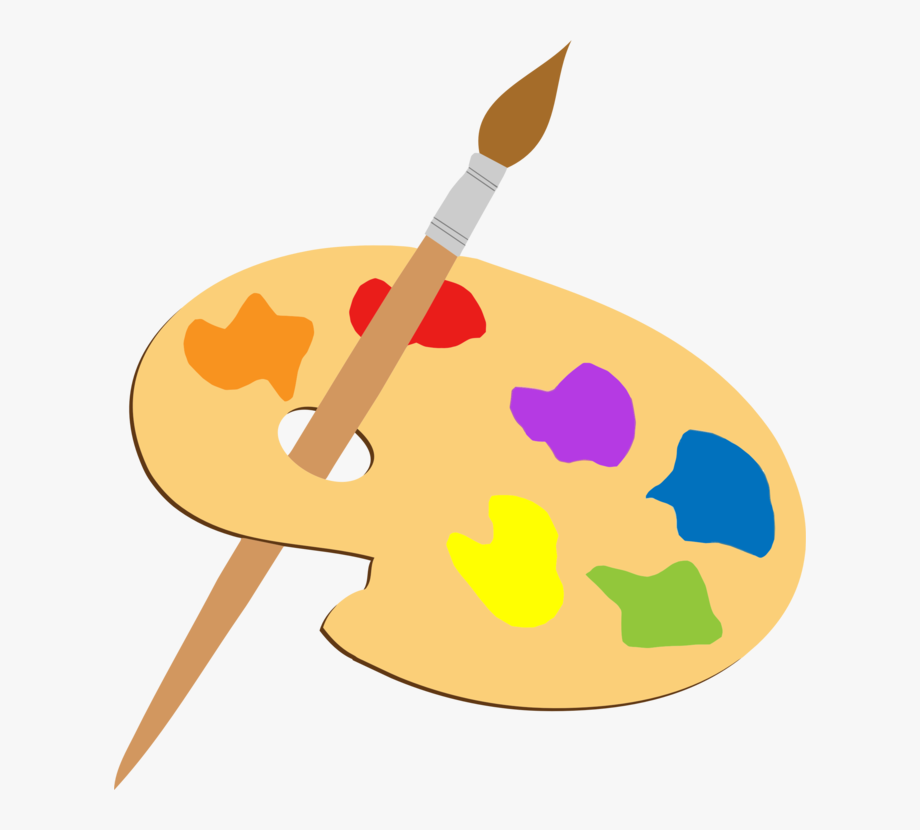 Paintbrush clipart art contest. Palette painting drawing