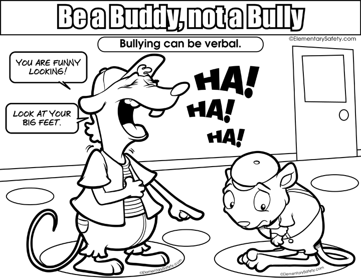 Nice clipart verbal bullying. Elementary safety bigger image