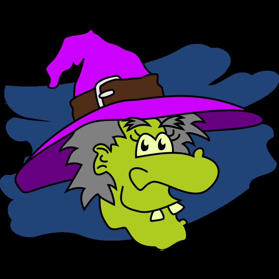 Public domain clip art. Witch clipart purple witch