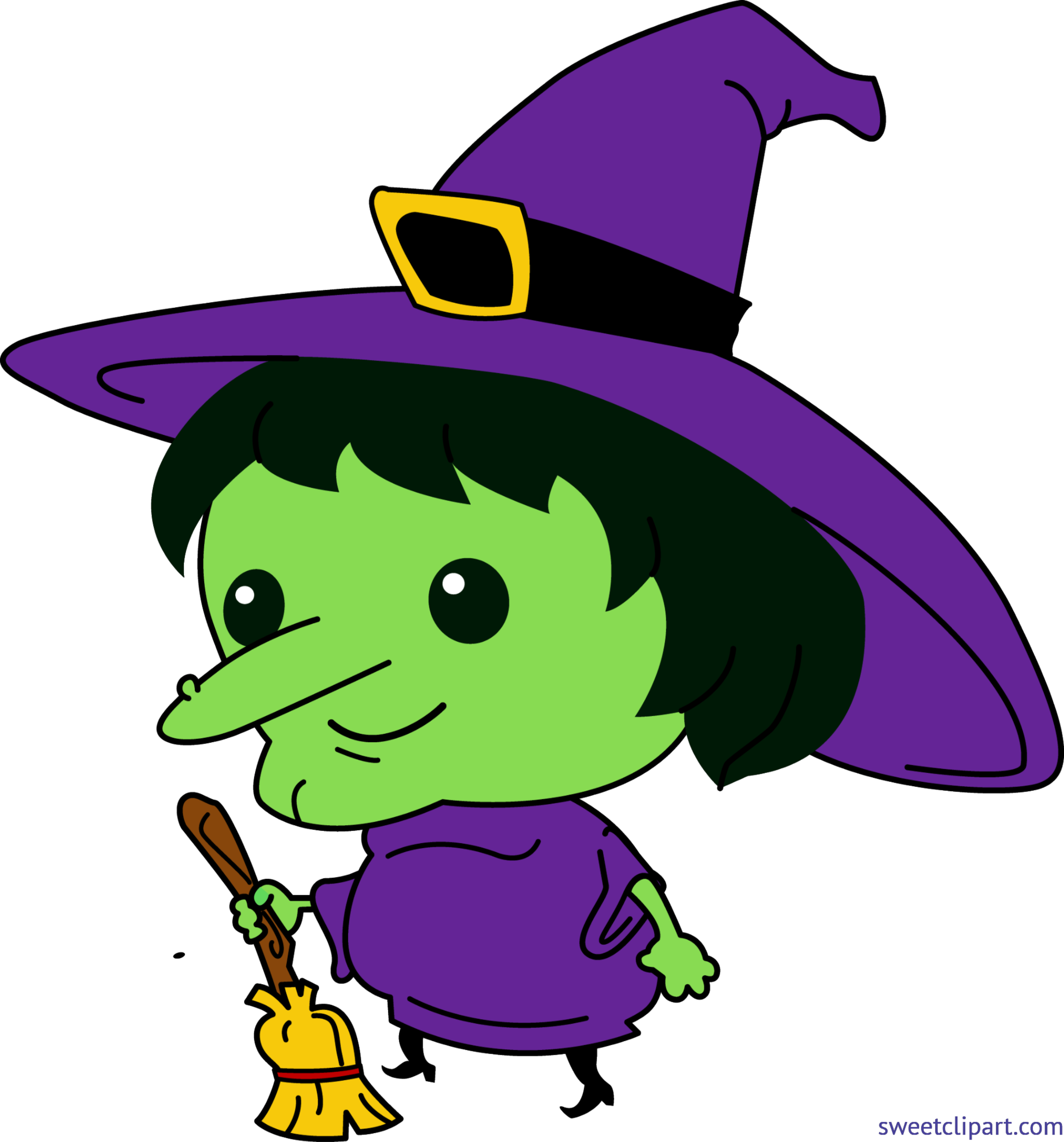 Cute clip art sweet. Witch clipart purple witch