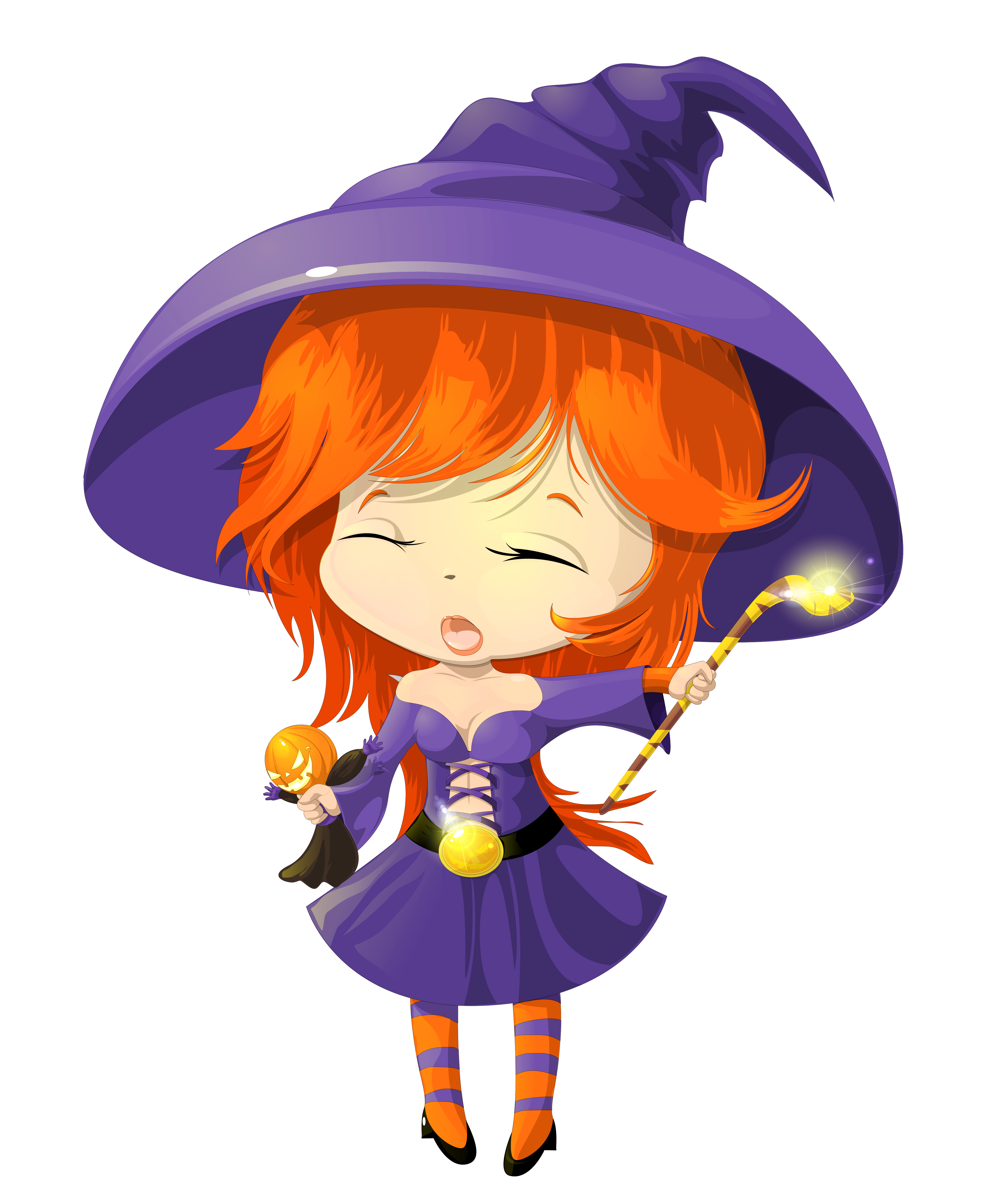Purple clipart cute. Witch transparent gallery yopriceville
