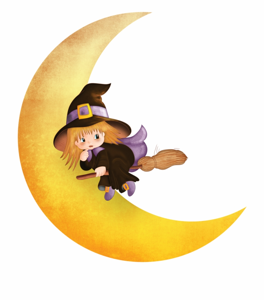 Halloween png download . Witch clipart witch moon