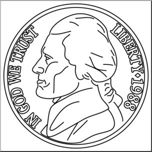 Clip art front b. Nickel clipart