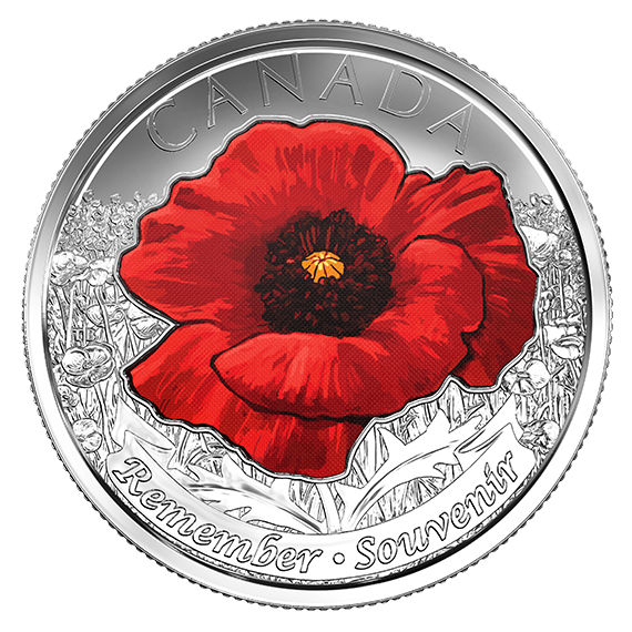remembrance collector card. Nickel clipart canadian loonie