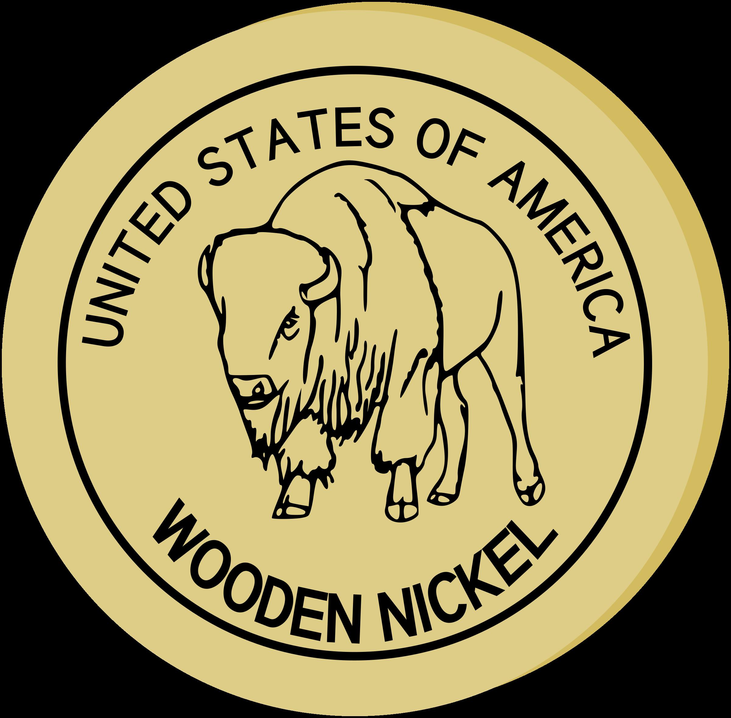 Nickel clipart nickel coin. Wooden big image png