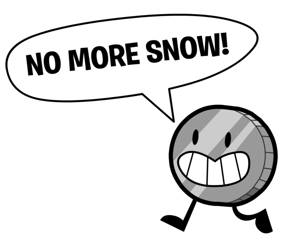 No more snow by. Nickel clipart nickle
