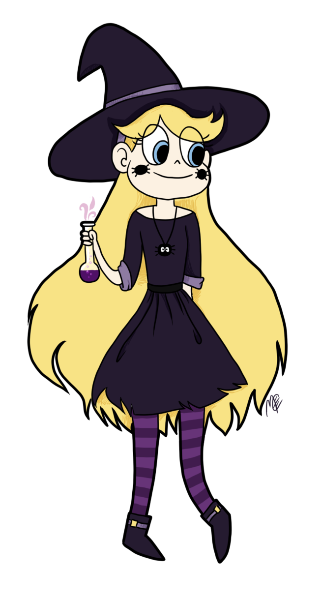 Night clipart 11 star. Butterfly as a witch