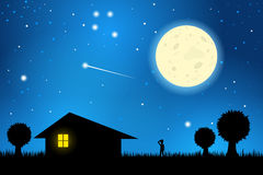 Night clipart.  collection of house