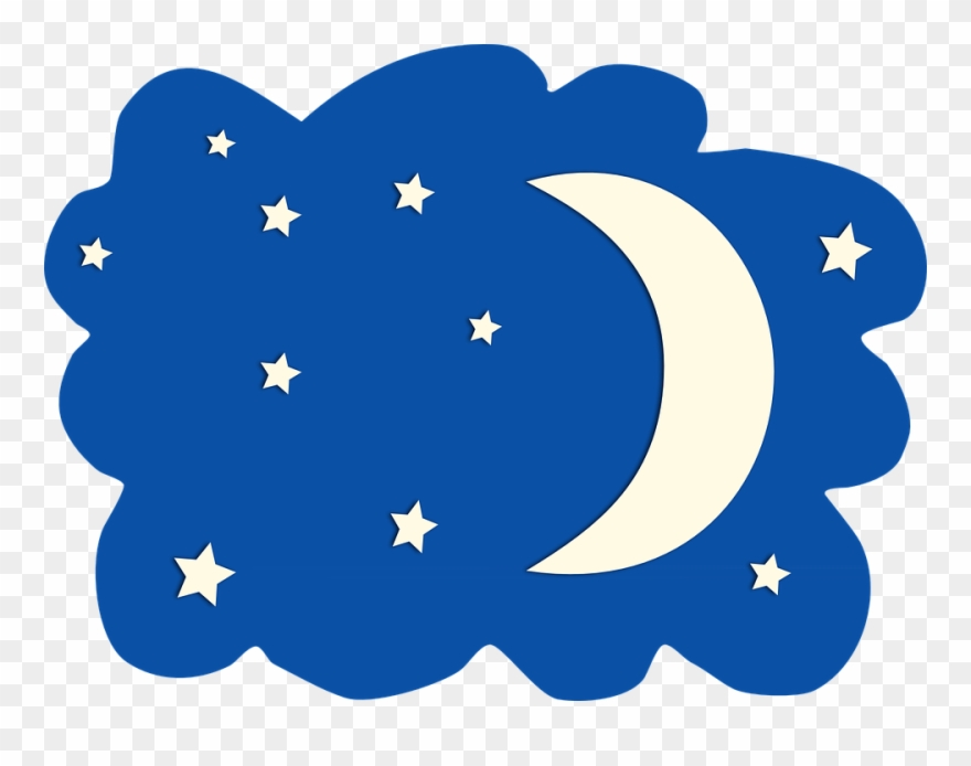Nature star moon clip. Night clipart