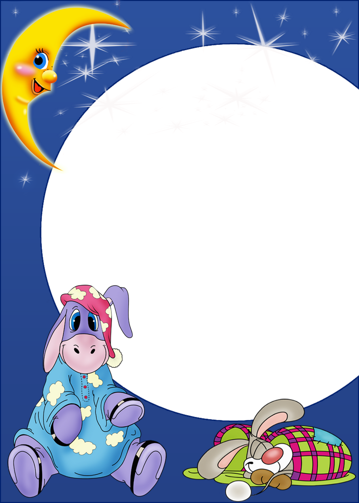 Night clipart cute. Kids png photo frame
