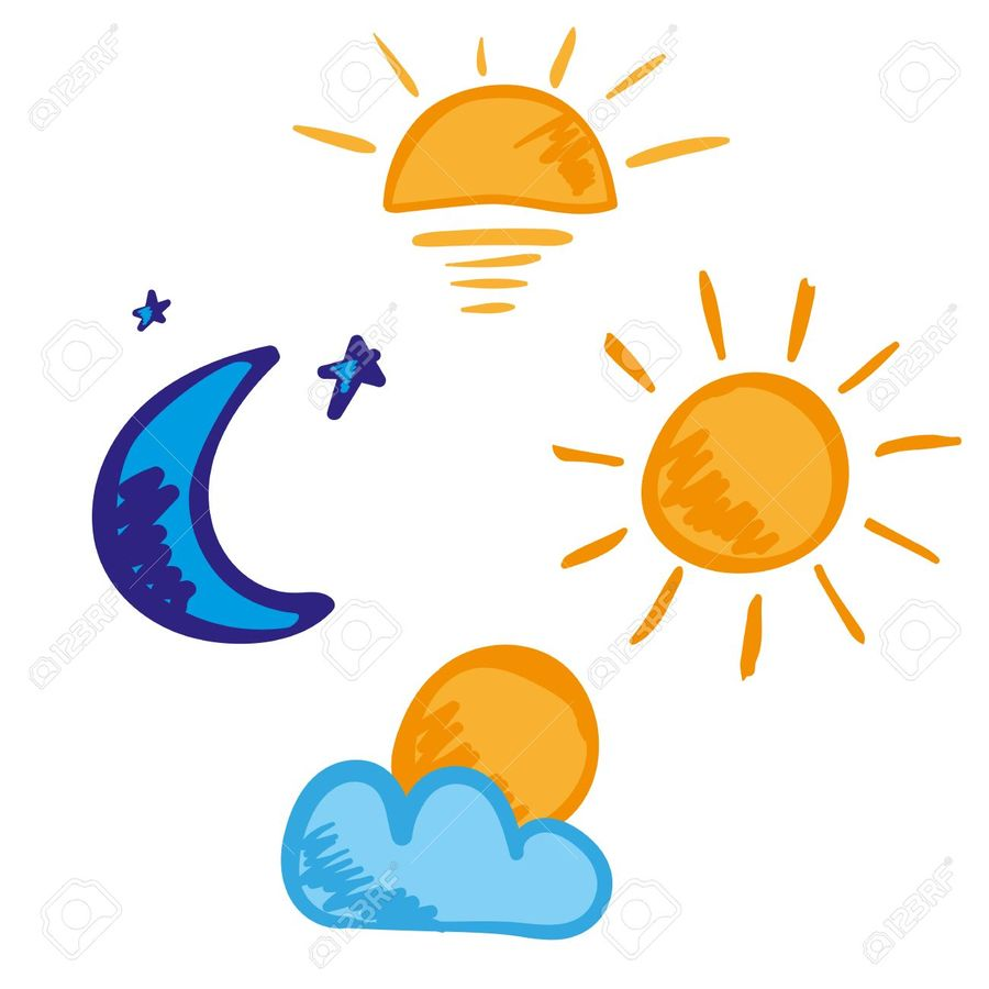 Night clipart evening. Download morning afternoon icons