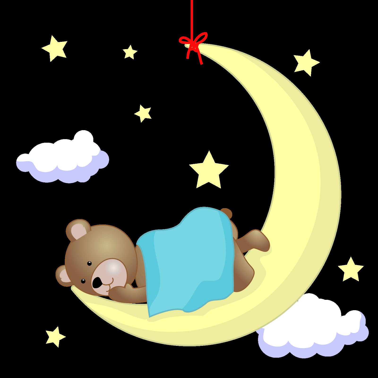 Teddy bear clip art. Night clipart good night