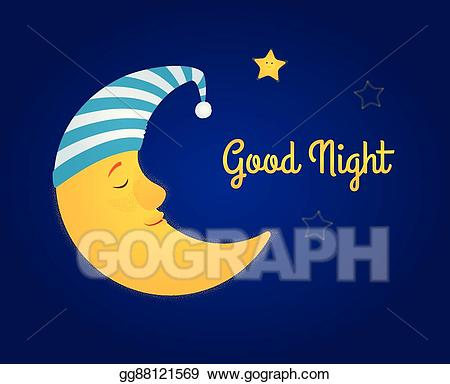 Night clipart lunar. Vector art moon and