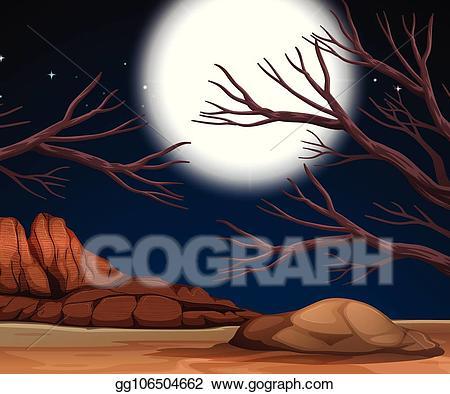 Night clipart night nature. Clip art vector scene