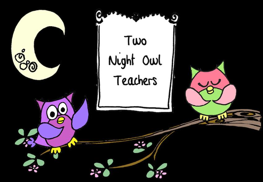 Owls clipart row. Two night owl teachers