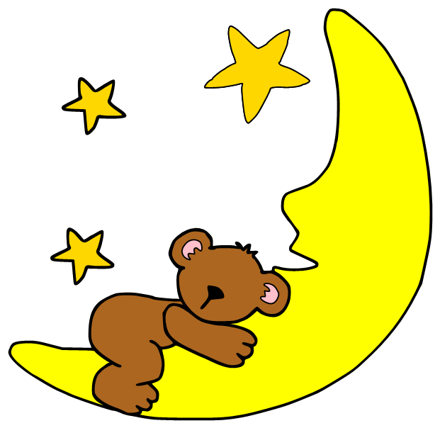 Night clipart sleepy child. Moon cartoon drawing clip