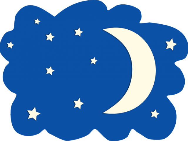 Moon and stars x. Night clipart star