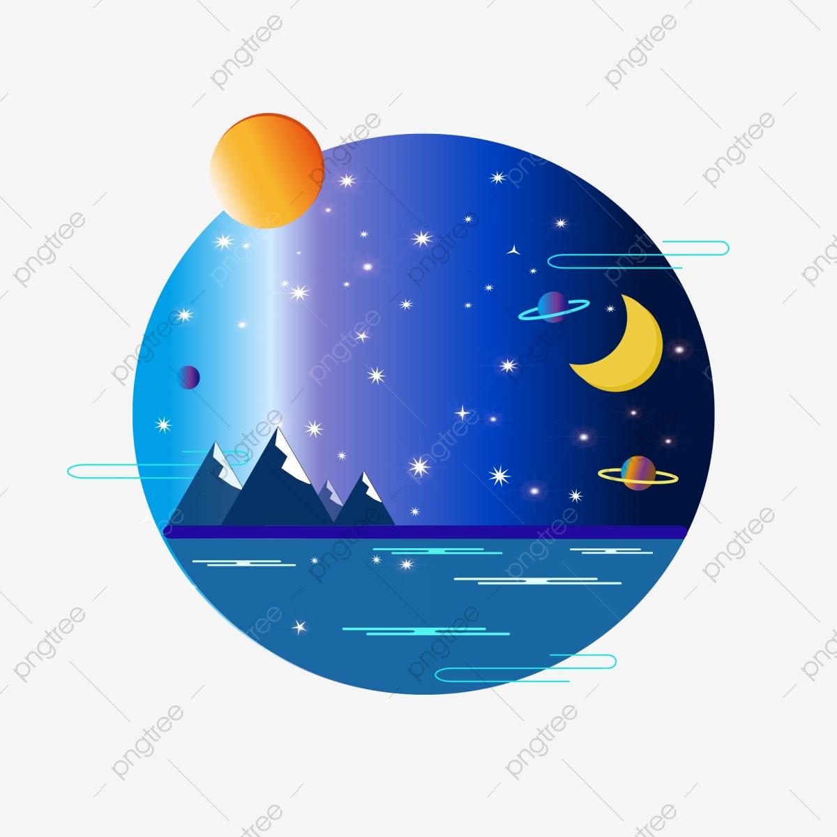 Stars sky universe commercial. Night clipart sun moon star