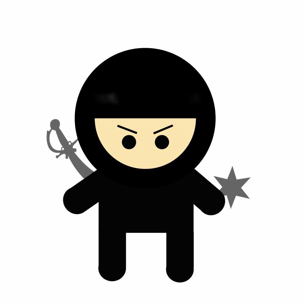 Cute . Ninja clipart