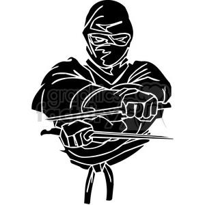 Royalty free vector clip. Ninja clipart