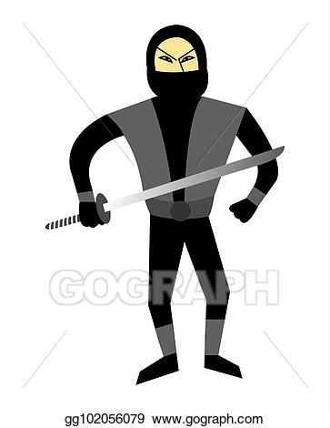 Ninja clipart cartoon chinese. Stock illustration asian character