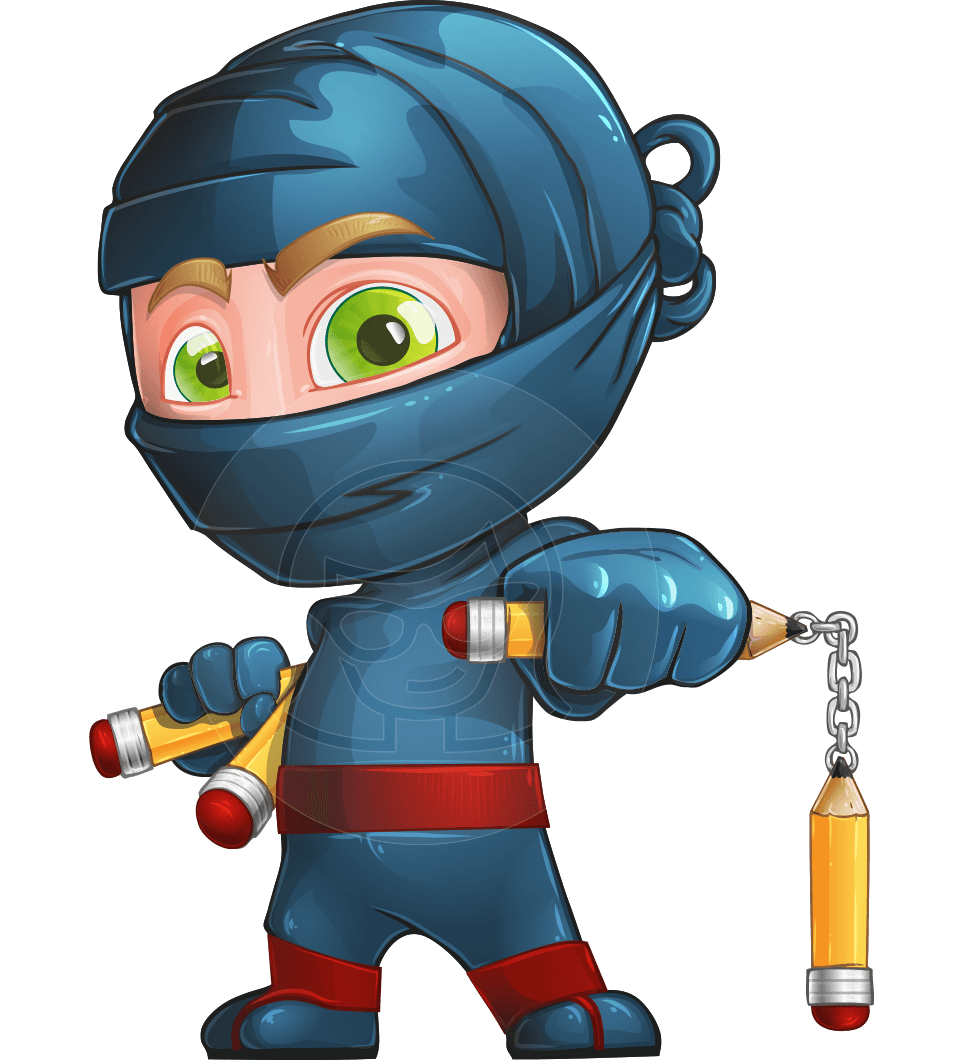 Vector ninja toshi the. Pencil clipart character