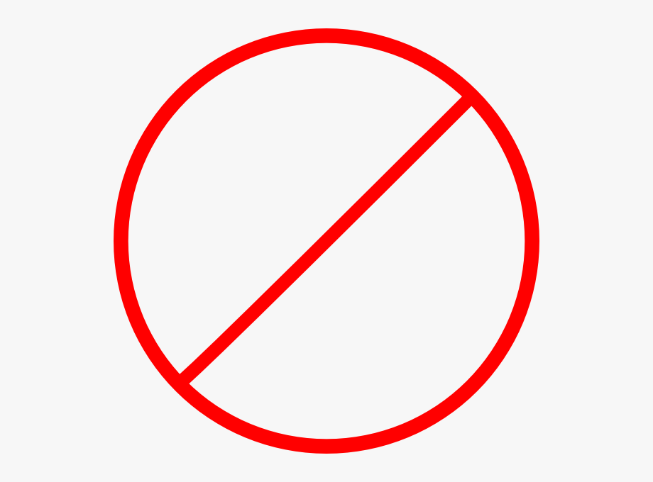 No clipart circle. Of sign and cross