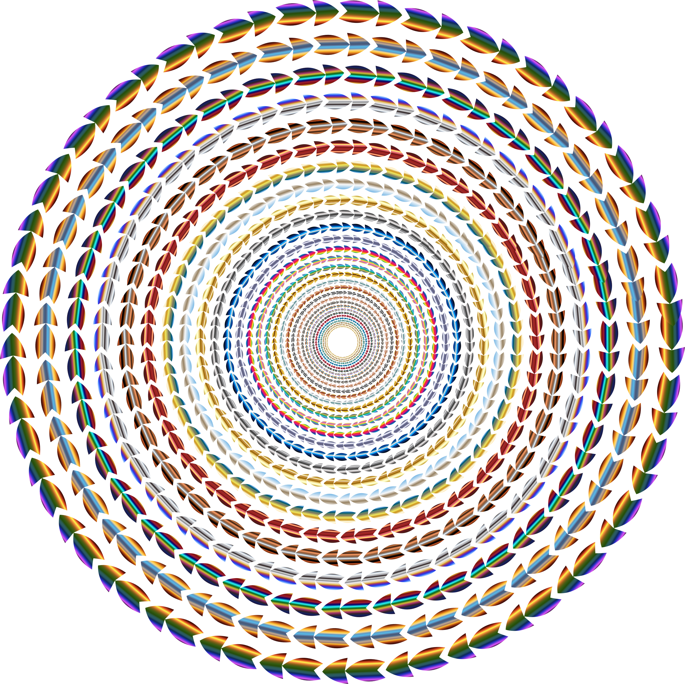 No clipart circle. Polychromatic colorful direction vortex
