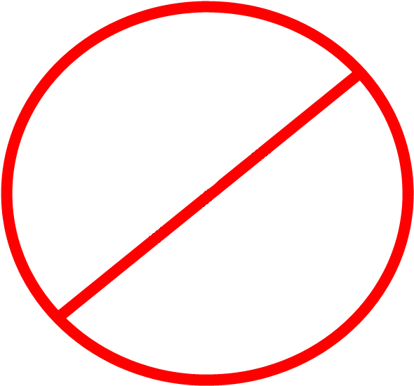 No clipart circle. X with a line