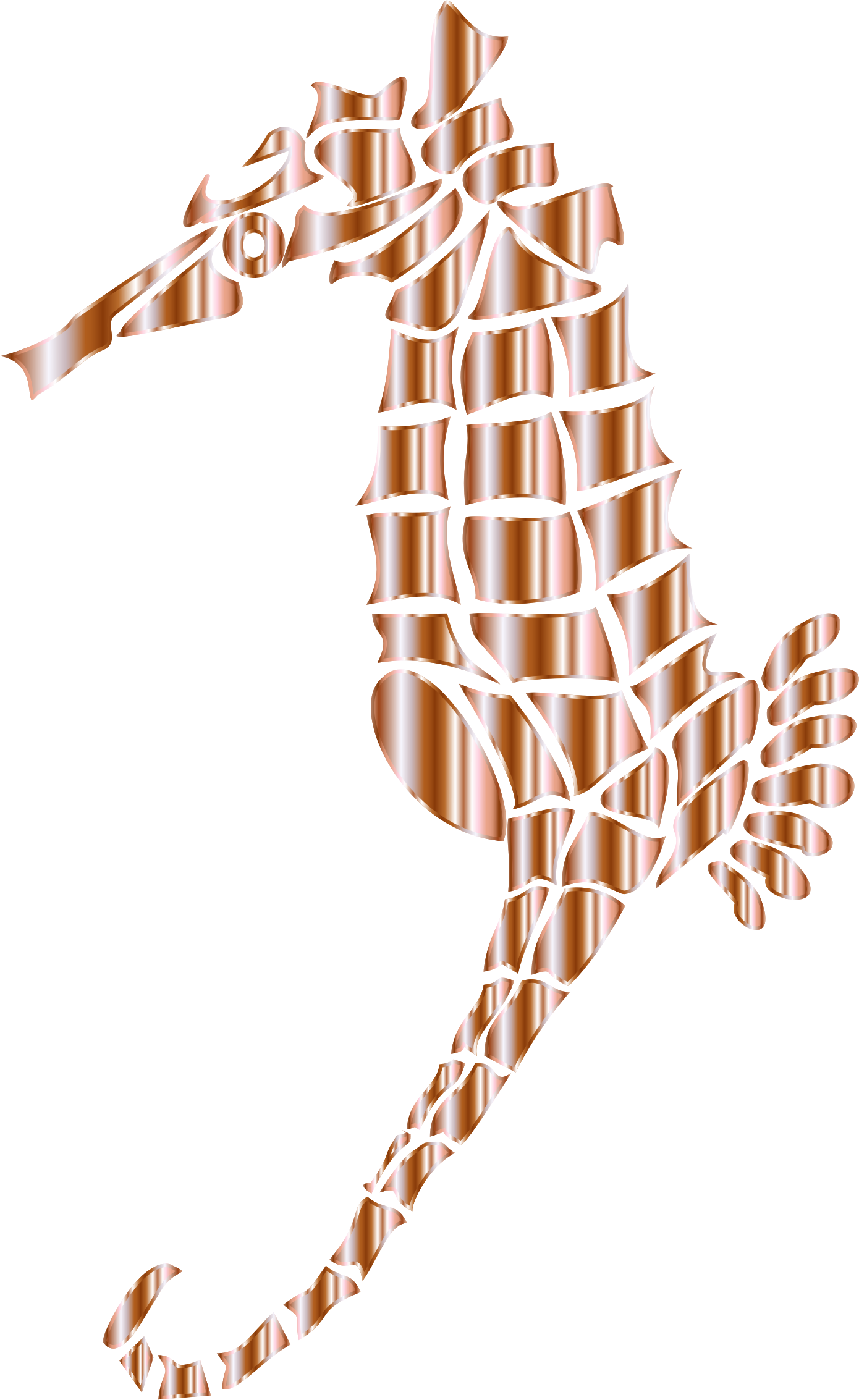 Mother of stylized seahorse. Pearl clipart silhouette