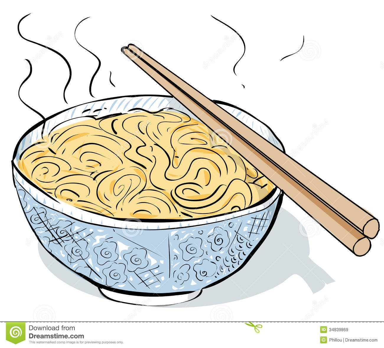 Chinese noodles steaming royalty. Noodle clipart